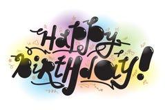 Happy birthday inscription Royalty Free Stock Images