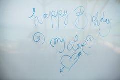 Happy birthday inscription Stock Image