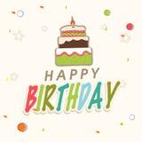 Happy Birthday Invitation card design. Royalty Free Stock Photos