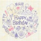 Happy Birthday invitation card Stock Photo