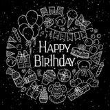 Happy Birthday invitation card Stock Photos