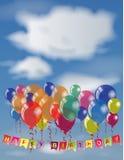 Happy Birthday invitation or congratulation card template. Stock Photos