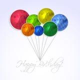 Happy Birthday invitation Stock Image