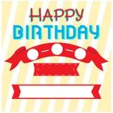 Happy birthday invitational card Royalty Free Stock Photography