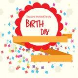 Happy birthday invitational card Stock Photos