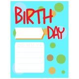 Happy birthday invitational card Stock Photo