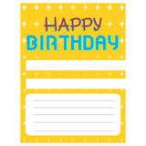 Happy birthday invitational card Royalty Free Stock Image