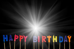 Happy birthday isolated Stock Images