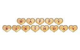 Happy birthday isolated Royalty Free Stock Photography