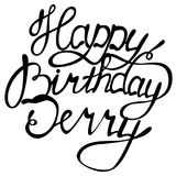 Happy birthday Jerry name lettering. Vector Happy birthday Jerry name lettering Stock Image