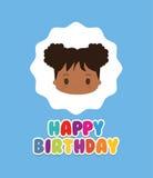 Happy birthday kid cartoon Royalty Free Stock Photo