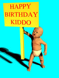 Happy birthday kiddo Royalty Free Stock Photo