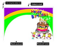 Happy Birthday kids card Royalty Free Stock Images