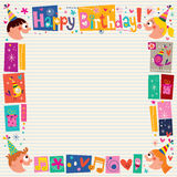 Happy Birthday kids decorative border Royalty Free Stock Photos