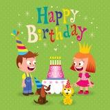 Happy Birthday kids greeting card Stock Photos