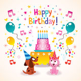 Happy Birthday kids greeting card Stock Photography