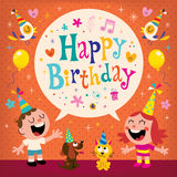 Happy Birthday kids greeting card Royalty Free Stock Images