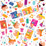 Happy Birthday kids pattern Royalty Free Stock Photo