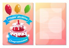 Happy birthday kids postcard set Stock Image