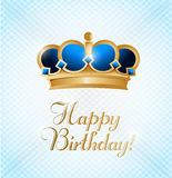 Happy birthday king. illustration design card Royalty Free Stock Photo
