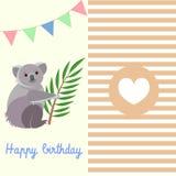 Happy Birthday with Koala Stock Photography