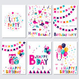 Happy Birthday. Let s party Royalty Free Stock Photography