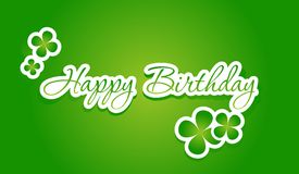Happy birthday lettering. On green background. Vector illustration Royalty Free Stock Photography