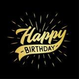 Happy birthday lettering design. Vector and illustration. vector illustration