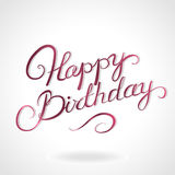 Happy birthday lettering Royalty Free Stock Photo