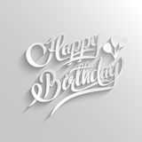 Happy Birthday Lettering Greeting Card Stock Photos