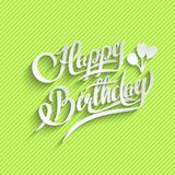 Happy Birthday Lettering Greeting Card Stock Images