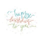 Happy Birthday Lettering. Royalty Free Stock Photo
