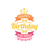 Happy birthday lettering Stock Images