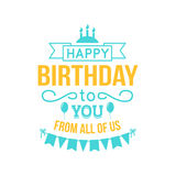 Happy birthday lettering Royalty Free Stock Image