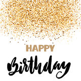 Happy birthday lettering for invitation and greeting card, prints and posters. Hand drawn inscription, calligraphic Royalty Free Stock Photography