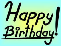 Happy Birthday lettering vector royalty free illustration