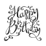 Happy Birthday Lettering. Stock Image