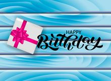 Happy birthday lettering. Vector illustration for card