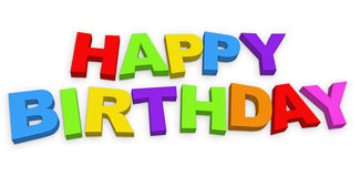 Happy Birthday Letters royalty free illustration