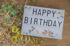 Happy Birthday Lightbox