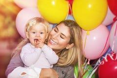 Happy birthday of little girl Stock Photos
