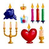 Happy birthday logo and party symbols Stock Photos