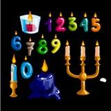 Happy birthday logo and party symbols Stock Photography