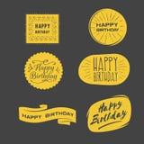 Happy Birthday logos royalty free illustration