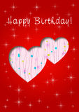 Happy Birthday with love. Happy Birthday greeting card invitation Royalty Free Stock Images