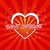 Happy Birthday with love card Stock Images