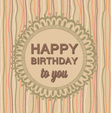 Happy Birthday luxury card vintage hand drawing  Royalty Free Stock Images