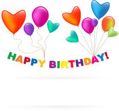 Happy Birthday balloon Stock Photography