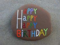 Happy birthday message Stock Photos