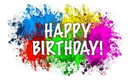 Happy birthday message vector illustration